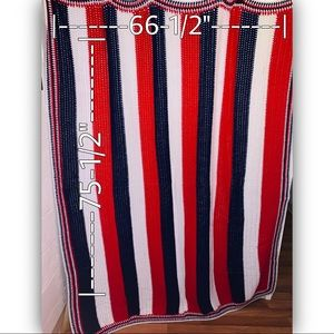 KNIT THROW/BLANKET🇺🇸 Red, White & Blue Patriotic